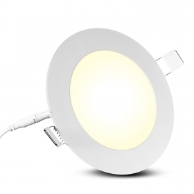 Spotlight recessed round LED panel 18W ultra slim, diffused light hole 20cm 220V