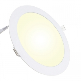 Spotlight recessed round LED panel 24W ultra slim, diffused light hole 28cm 220V