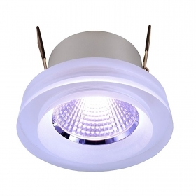 Foco empotrado, terapia del color, LED RGB 8W cristal, 24V-sincronizado LED