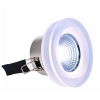 Spotlight, recessed, color therapy, LED RGB 8W crystal glass, 24V-synchronized LED