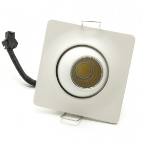 LED spotlight 3W spot swivel square directed light 6400K hole for built-in 45mm