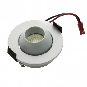 LED spotlight spot, swivelling round 5W directed light showcase 6400K hole 43mm 220V