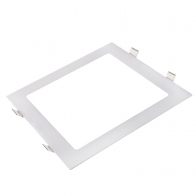 LED spotlight 24W recessed ceiling square ultra slim, light spread 120 degrees