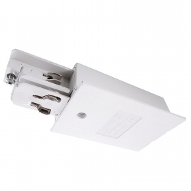 Power supply connector for track three-Phase recessed wall lighting system, binary