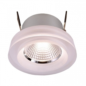 Spotlight recessed hole 68mm glass 8W LED CCT, from 2400K to 6500K 24V spot light