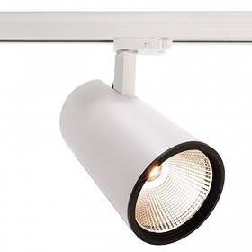 Spotlight adjustable track LED COB 40W spot 40 degrees, the binary three-phase 2820lm 220V