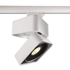 Led Track spotlight, led spot 26W 2500 lumens for binary three-phase directional warm light 3000k