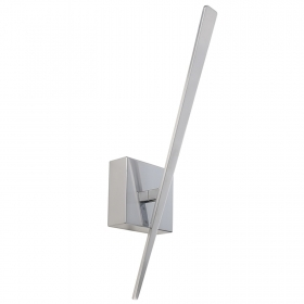 LED lamp 4W modern silver sconce wall light interior corridor 3000K IP20