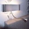 Applique LED 11W twin light reading lamp wall mounted adjustable 3000K 2 colors