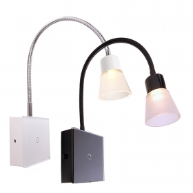 Applique 3W LED touch lamp reading wall arm flexible glass 3000K IP20