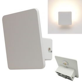 Applique lamp white square wal