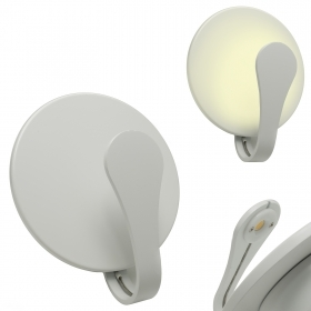 Lamp round white wall sconce L