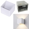 Applique cube LED 5W lamp white modern wall double emission light 220V
