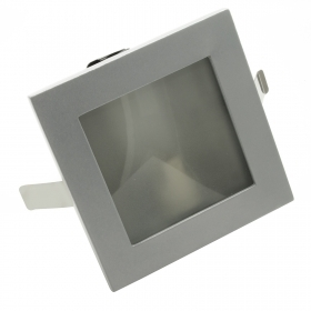 Path indicators LED spotlight recessed square G9 diffuser in glass 220V IP20