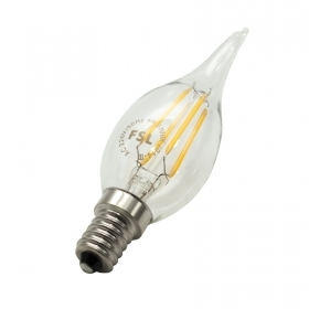 Led bulb, transparent glass in