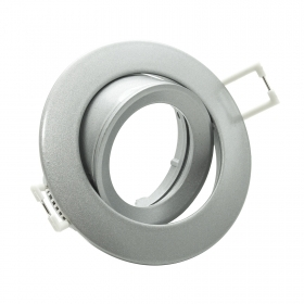 Portafaretto with swivel-round-flush colour nickel GU10 GU5.3 MR16 hole 75mm