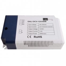 Power supply, PRO 40W DALI standard IEC 62386 dimmable LED 12Vdc input 220V