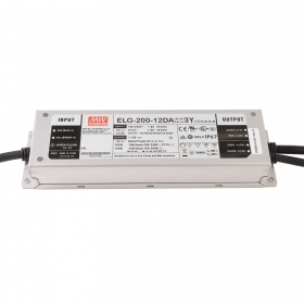 Power supply dimmable 192W Mean Well ELG-200-12DA DALI IEC 62386 12V IP76