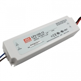Transformer slim MeanWell LPV-100-12 power supply 100W 12V 8.50 per LED IP67