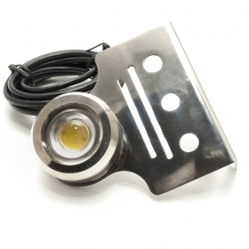 Plate LED stainless steel Trim Tab Light 12V 1x9W light dive boat swimming pool IP68