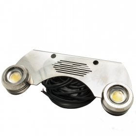 Double LED stainless steel Trim Tab Light 12V, 2x9W light dive boat swimming pool IP68