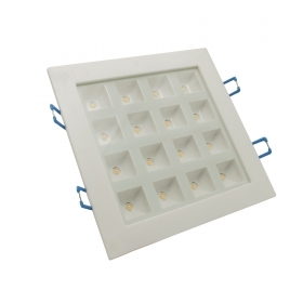 Led downlight recessed 15x15cm 16W ceiling square showcase 16 interior LED lights 3000K 220V