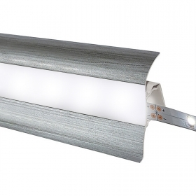 Profile LED strips skirting-steps anodised aluminium 1m opaque diffuser