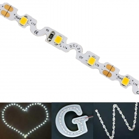 Flexible LED strip adhesive 40W written bright 6000K 5MT Zig-Zag 12V IP20