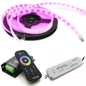 KIT strip 300 RGB LED light chromotherapy bathroom controller RF 12V waterproof IP67