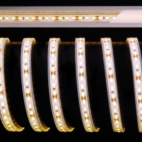 Led strip IP67 outdoor waterproof shower step 600 led 12V 32w strip 5M