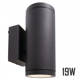 Lamp double LED 19W light wall
