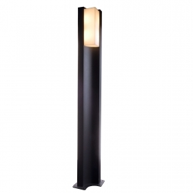 Street light pole integrated led 8W light 3000K 1m lighting garden avenue IP54