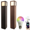 Street light, garden LED SMART WiFi aluminum light RGB RGBW lamp 10W E27 65cm