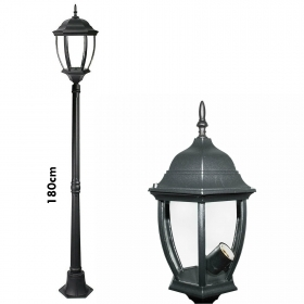 Lantern mod.New york die-cast aluminum 180cm IP65 led lamp 10w E27