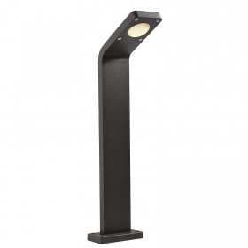 LED street lamp 9W angled aluminium bollard garden light 3000K IP54 230V 65cm