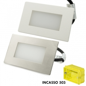 Path indicators external LED spotlight 3W recessed 503 4000K IP65 bezel silver white