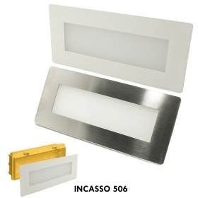 Spotlight path indicators LED 4W recessed light wall box 506 4000K white stainless steel IP65