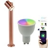 Lantern pole LED 8W adjustable garden GU10, WiFi SMART RGB CCT IP44 50cm