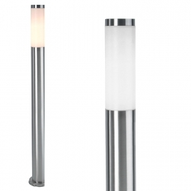 Streetlight pole LED stainless steel outside lights garden avenue E27 110cm
