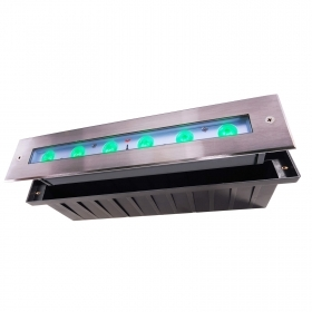 Walkable IP67 led spot light 17w rgb full color 24v dmx optics asymmetric