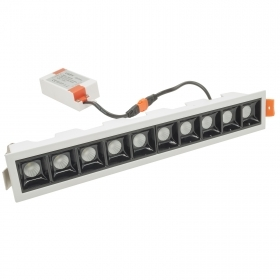 LED light bar, recessed led downlight spot 22W cold light showcase 45 angle 230V