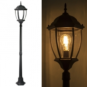 Lamp vintage garden mod. New York 180cm LED bulb 12W E27 warm light