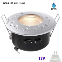 Spotlight recessed round 12V LED 4W
