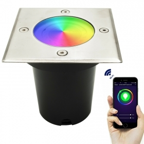 LED spotlight walkable recessed ground lamp, RGB light, path garden IP65
