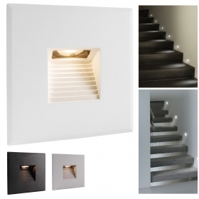 LED spotlight path indicators recessed square wall 2.2 W warm light stairs hallway