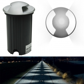 Walkable dual LED grazing spotlight 3W segnapassi recessed floor IP65