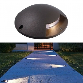 Spotlight floor slim LED 3W segnapassi grazing light garden 4000K 12V IP65