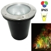 Spotlight recessed walkable LED spot RGB 12W E27 decorative light garden IP65