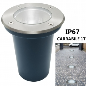 Lighthouse LED recessed driveway 1T floor marking steps E27 10W garden IP67