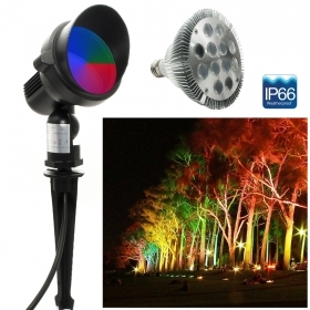 LED spotlight RGB picket lamp E27 12W garden light multicolor IP66